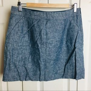 NWT The Limited Light Blue Chambray Skirt w/pocket